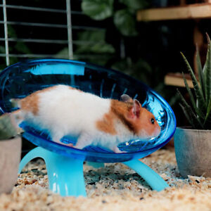 Pet Hamster Flying Saucer Exercise Squirrel Wheel Hamster Mouse Running Disc