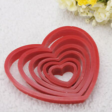 Heart Cookie Biscuit Fondant Cake Cutter Decorating Tool Mold Sugar Craft Kit