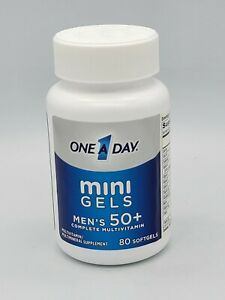 One A Day Mini Gels Men's 50+ Complete Multivitamin 80 Softgels Expires 01/22