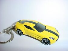 NEW 3D ASTON MARTIN ONE-77 CUSTOM KEYCHAIN keyring key Yellow Black finish 177