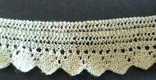 A4 Antique Lace Crochet Knit Primitive Remnant Salvage Sewing Doll 2 Yards