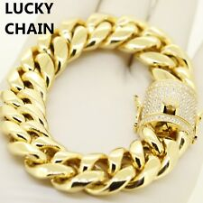 STAINLESS STEEL HEAVY MIAMI CUBAN LINK GOLD BRACELET 8.5x18mm 139g