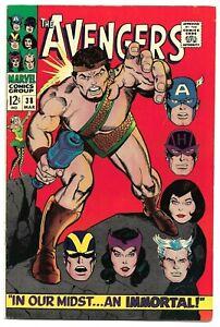 AVENGERS #38, 1967 Marvel, Hercules & Black Widow. Gil Kane 8.5 VF+