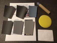 KIT RESTAURATION OPTIQUES / GLACES DE PHARE POLYCARBONATE COMPLET ET UNIVERSEL