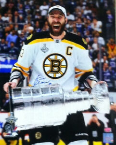 Zdeno Chara Boston Bruins signed Stanley Cup 16x20 E