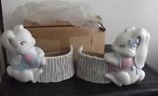 Homco/Home Interior Planter White Flop-Earred Bunny Set of 2 #1627 Nib