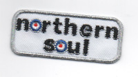 NORTHERN SOUL MOD   Iron On/Sew On Embroidered Patch RARE SOUL SCENE - SCOOTERS