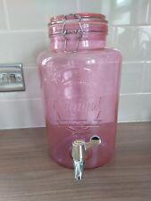 Kilner 5 Litre pink clip top round drinks water dispenser party wedding jar
