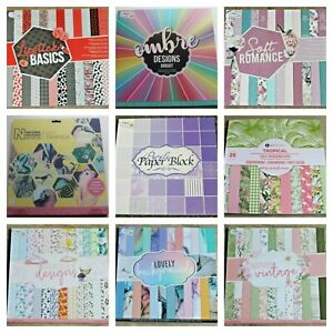 Craft Scrapbook Card Paper Pads 12 x 12  Various Designs * 43 Options