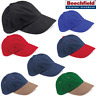 Beechfield CAP LOW PROFILE BASEBALL HAT SPORTS SUMMER 6 PANEL CURVED PEAK COTTON