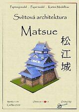 Japanese Castle Matsue world asian architecture paper model papercraft hejl