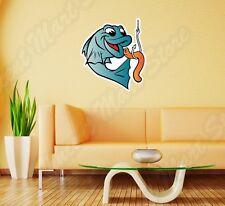 "Fisherman Fish Fishing Worm Bite Hook Wall Sticker Room Interior Decor 20""X25"""