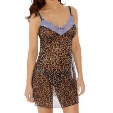 Animal Print Chemises Short Regular Nightwear for Women
