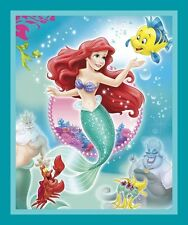 """THE LITTLE MERMAID QUILT TOP PANEL 100% cotton Fabric by the panel 35"""" X 43"""""""