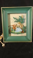 Vintage Formed Products Co Metal Shadow Box Glass Victorian Lighted Picture