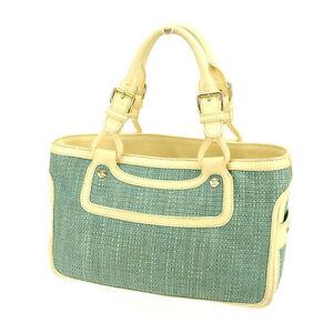 Celine Tote bag Blue Beige Woman Authentic Used E970