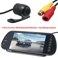 "US-7"" MP5 Bluetooth Car Rearview Mirror Monitor+420TVL CCD Reverse Backup Camera"