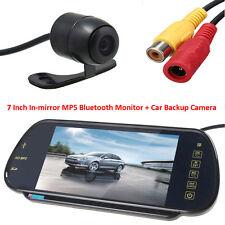 "US-7"" MP5 Bluetooth Car Rearview Mirror Monitor+420TVL CCD Reverse Backup Camera"