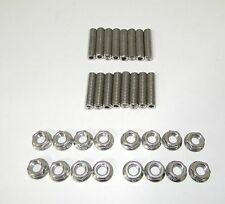 "Ford FE 390 - 428 Stainless Steel Exhaust Manifold Studs 2"" Long  NEW"