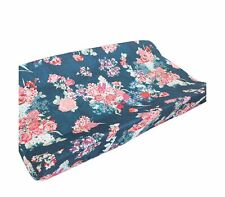 Baby Boy Crib Bedding Aztec Changing Pad Cover Breathable Soft Coral Navy Flora