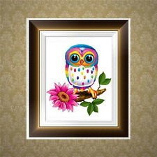 Cute Owl 5D Diamond Embroidery Painting Cross Stitch DIY Craft Home Wall Decor