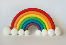 Fondant Vibrant Colorful Rainbow Cake Topper - Rainbow