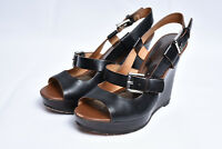 COACH MARY JO Womens Platform Wedge Slingback Leather Strappy Sandals Sz 6