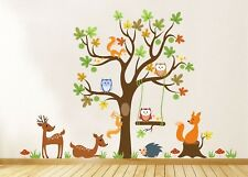 Wall Stickers Kids Baby Children's Animals Trees Cute Owl Lion Jungle Nursery