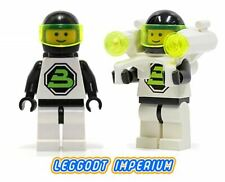 Lego Space Minifigures - Blacktron 2 Astronauts -  minifig FREE POST