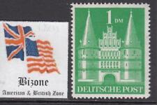 GERMAN BIZONE American & Brit occ Castles 1Mk Mi 97/IIeg  perf 14 cv 210$ MNH**