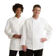 Medline Knot Button Unisex Chef Coats Long Sleeve All Sizes White
