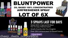 BluntPower 100% Concentrated Oil Based Air Freshener (Lot of 6 X) Choose Yours