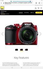Nikon coolpix b500 16.0mp digital camera - red