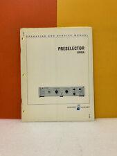Hp 08441 90004 Preselector 8441a Operating And Service Manual