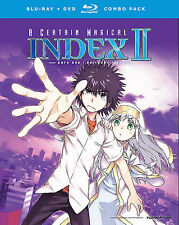 A Certain Magical Index II: Part One (Blu-ray/DVD, 2014, 4-Disc) R1 Anime