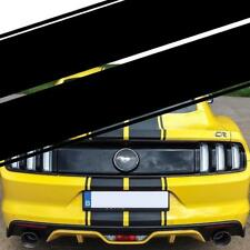 Black Accent Dual Rally Stripes Graphics Vinyl Decals For Ford Mustang Full Body