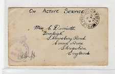 GB: 1943 CENSORED COVER WITH FIELD POST OFFICE 292 (C26952)