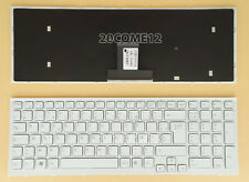 NEW FOR SONY VAIO VPCEB VPC EB Keyboard French Clavier Frame White