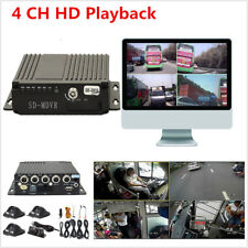 Vehicle Car Mobile DVR 4CH Audio/Video Recorder Remote Control SD +4 CCD Cameras