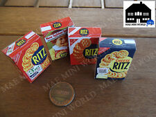 4 Miniature food boxes. Assorted Ritz .. Scale 1:6