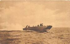 MILITARY NAVY RESCUE SPEED BOAT FOR TOWING AIRPLANES POSTCARD (c. 1919)