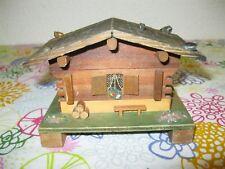 ART POPULAIRE Ancien PETIT CHALET MUSICAL BOIS Boîte à Musique Savoie Music Box