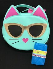 Betsey Johnson 2pc Teal Mint Kitty Cat Insulated Lunch Tote Bag w/ ice pack! New