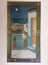 carte postale ancienne dessin de Chavannes en couleur imprimé Panthéon Paris