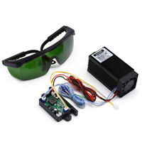 DIY TTL Analog 5.5W 5500mW 450nm Blue Laser Module Engraving Machine + Goggles