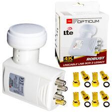 Opticum Unicable Einkabellösung Sat LNB 0,1dB | 7 Teilnehmer | HDTV 4K UHD | 4G