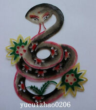 Chinese Vintage Cowhide Shadow Play Puppet---Snake