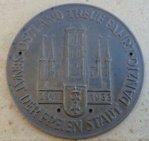 1933  Plakette Ostland Treue Fahrt Senat der freien Stadt Danzig