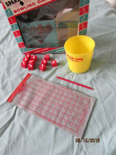 Complete 1962 Vintage Spare Time Bowling Game w Lift Score Sheet & Splits