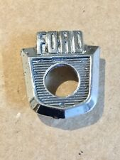 1957 1958 1959 FORD CAR ORIGINAL GLOVE BOX DOOR EMBLEM 7004407- A FOMOCO NICE